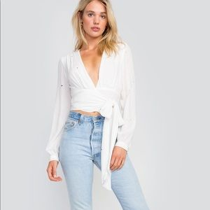WILDFOX STARLET JONES STAR WRAP CROP